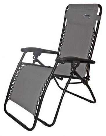Liberty Leisure Zero Gravity Textilene Grey Recliner Sun Lounger